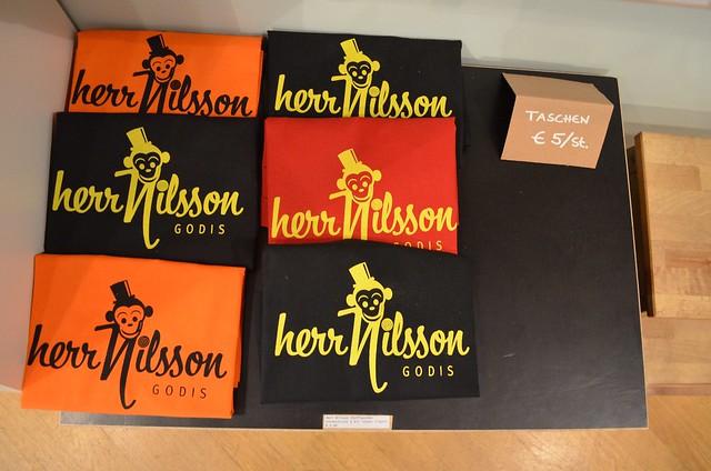 Herr Nilsson Godis Berlin_ Scandinavian candy store_ logo tote bags