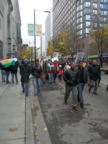 Scenes from the Kurdish protest of ISIS at Yonge and College (3)