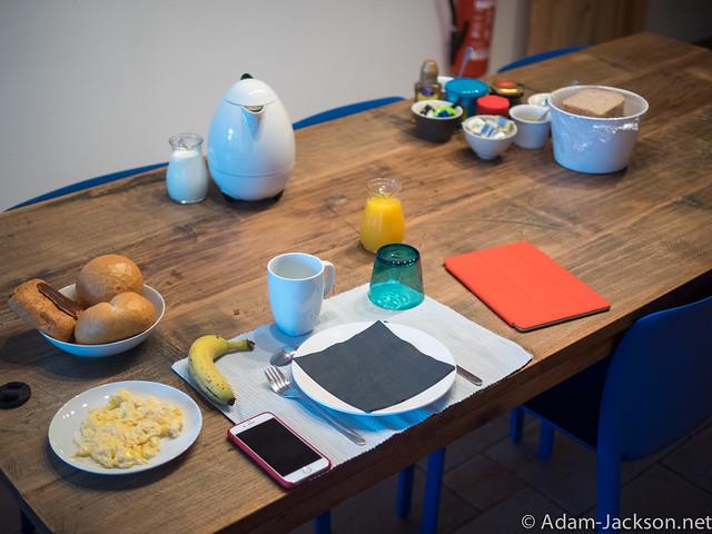 Breakfast at my apartment in Gent Belgium
