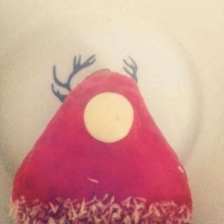 По пути на работу получила от Кости это фото и оно сделало мой день. #пончик #тарелкаизИкеи #скороНовыйгод