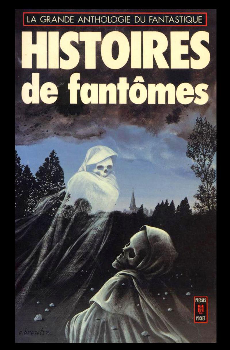Christian Broutin - Cover Art, Histoires de Fantômes, 1977
