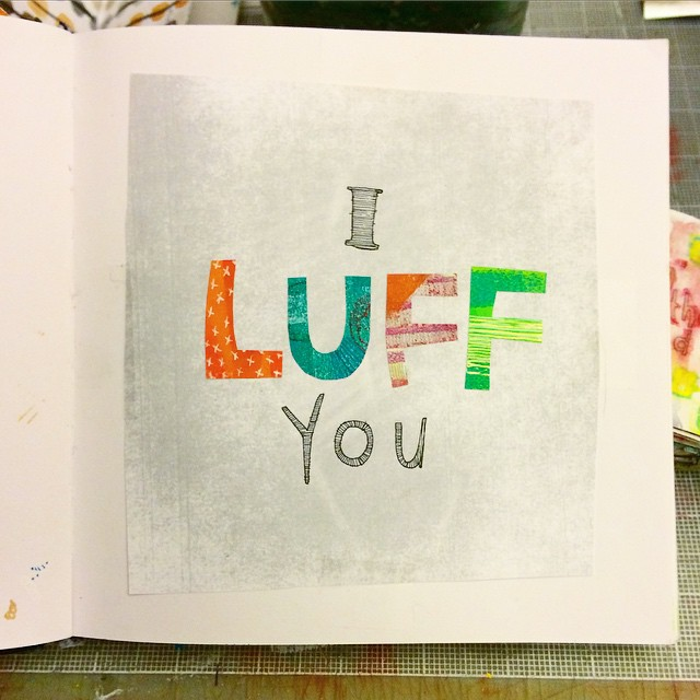 I Luff You #LittleArtBook Don't forget to enter to win a little art book by hashtagging and participating in the @littleartbook community
