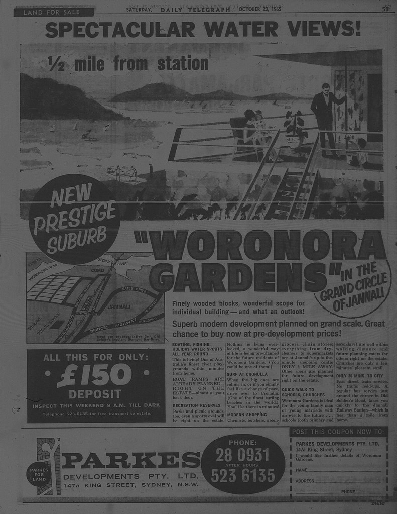 Woronora Gardens October 23 1965 daily telegraph 53