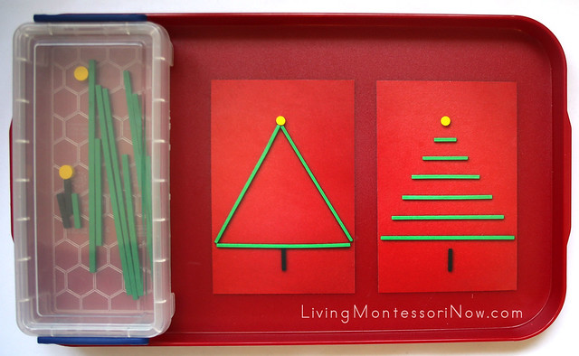 Stick and Dot Christmas Tree Activity