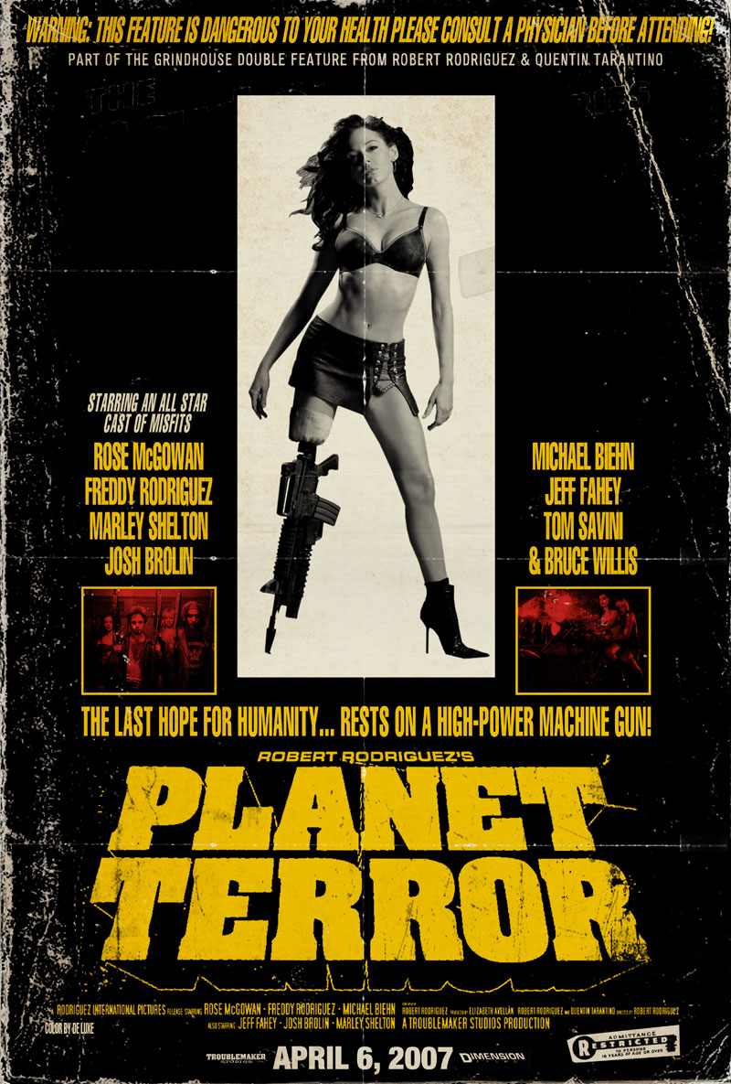 Planet terror 2007 amazing movie posters for Grindhouse poster template
