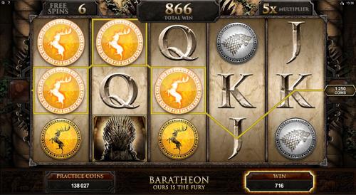 Game of Thrones - 15 Lines Baratheon Bonus Feature