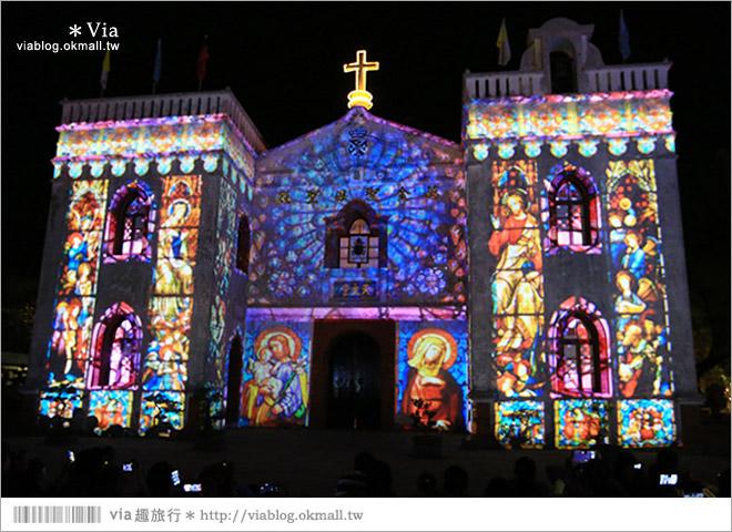 【萬金教堂】屏東萬金教堂聖誕季~3D光雕秀+耶誕地景藝術/全台最濃耶味小鎮!14
