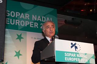 Albert Sola, presidente de Europer, durante su discurso