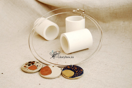 Coliere ceramica + metal