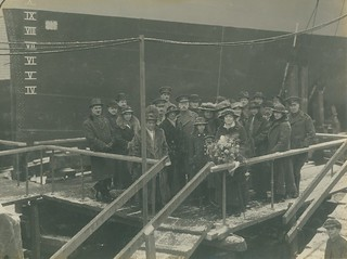 Launch party of HMS Thisbe