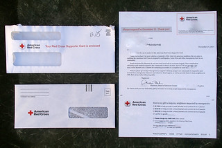 Image of Red Cross. junk mail spam political fake lottery elderly fundraiser scam predatory 419 charities elderabuse advancefeefraud superpac