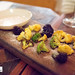 1st Snack: Broccoli, treviso, celery salt and chorizo