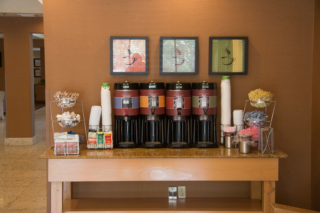Coffee available in hotel lobby