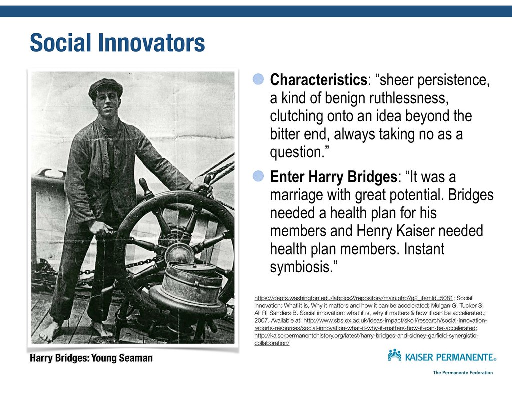 Social Innovators: Harry Bridges and today's Labor Management Partnership