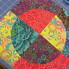 #crystallakemqg #quilt BOM ...loving this one!! Although I have to admit, I fail at reading directions so the block was actually supposed to be reverse instead of a circle lol So I'm sayin'... #imeanttodothat