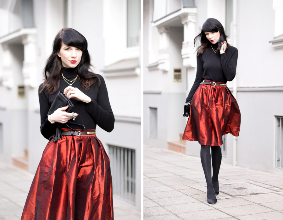 red skirt christmas outfit weihnachtsoutfit mädchen fashion mode modeblog fashionblogger pretty schwarz elegant hannover berlin ricarda schernus blog 5