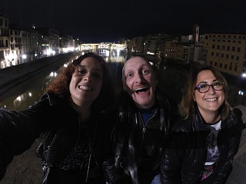 Martina, Cristiano, me e Ponte Vecchio!