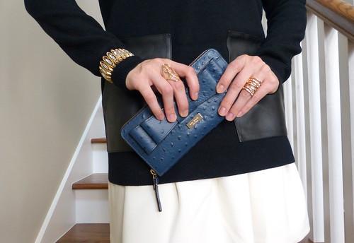 leather pocket tunic