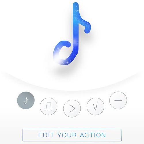 Gestureは5個までしか登録出来ない。プレイリスト再生、再生/一時停止、音量調整、次の曲へ、でもう4つ。つらい。