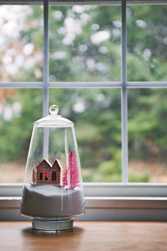 Wintery apothecary jar.