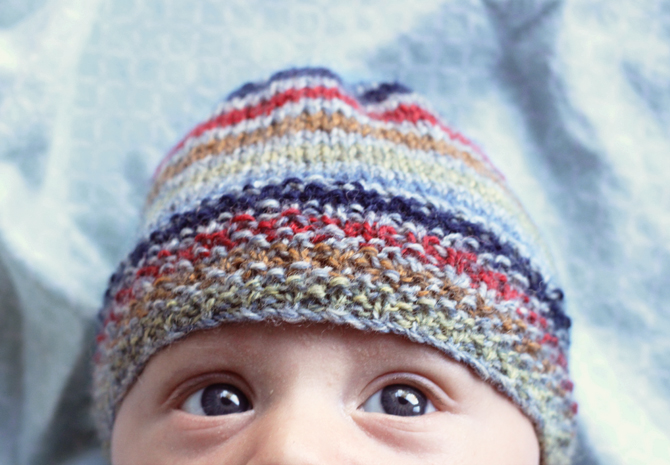 DIY Seed-Stitched Baby Beanie
