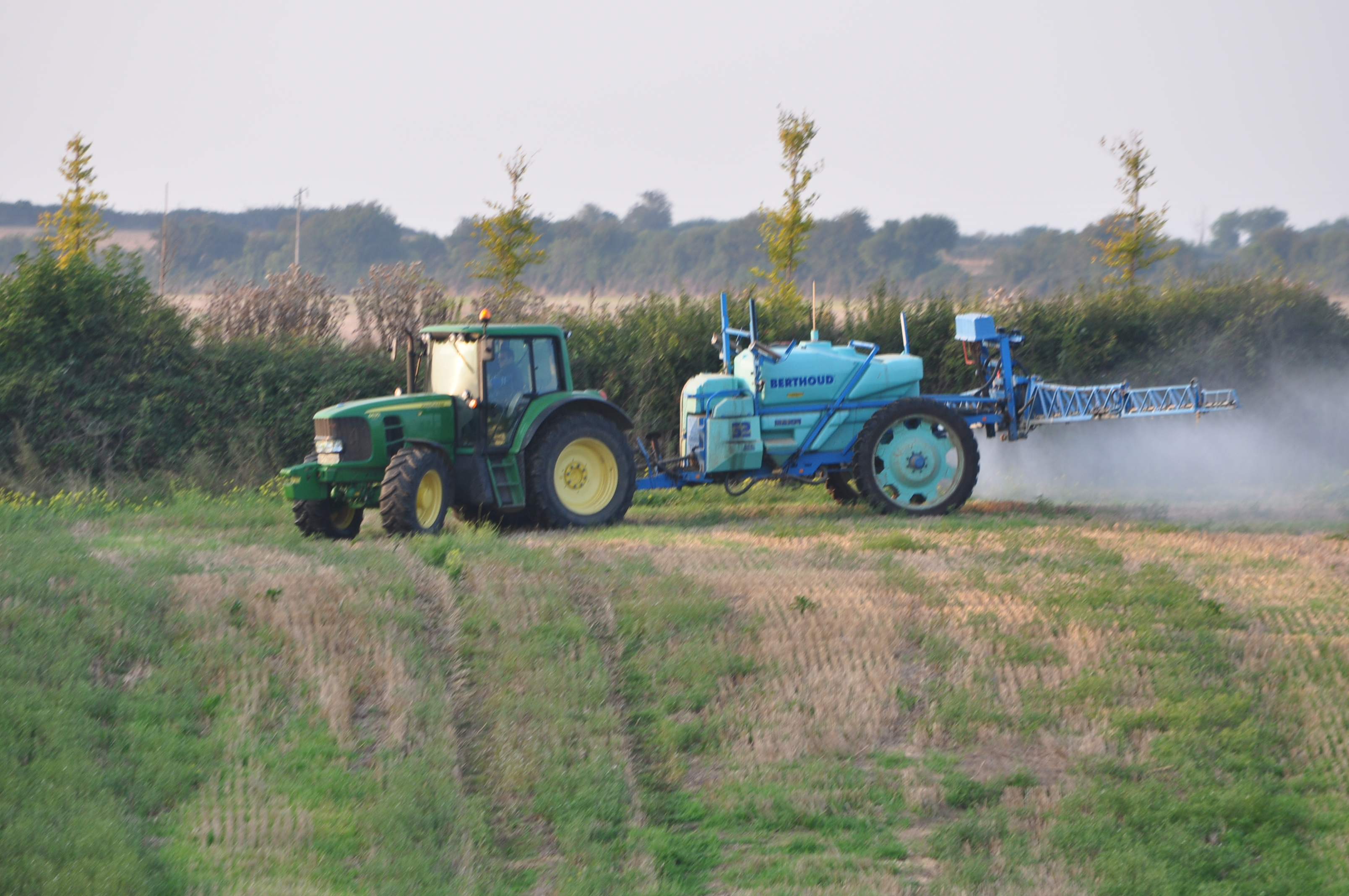 John Deere 6630 Tractor with a Berthoud Major 32 Trailed Crop Sprayer