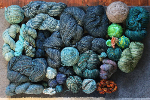 All the handspun yarn 2015