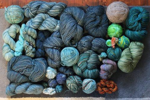 All the handspun yarn 2015