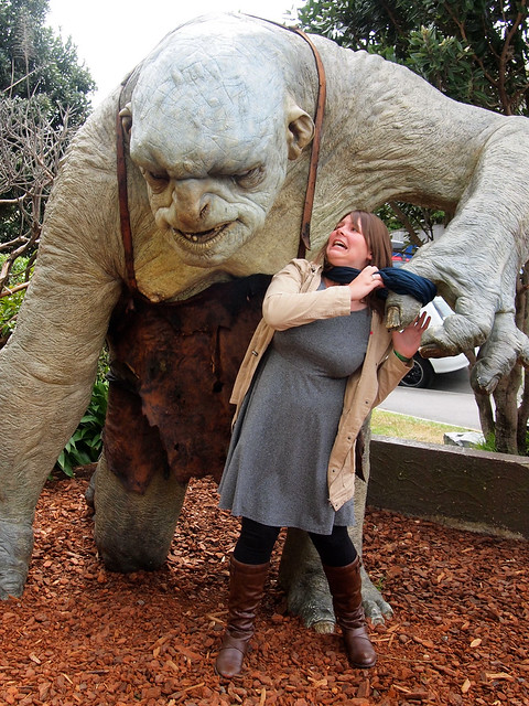 Troll outside Weta Cave