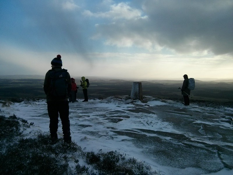The summit of Cairn William