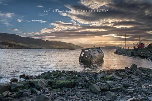 ireland sunset boat nikon wreck d800 buncrana