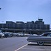 Detroit Metro Wayne County Airport main terminal and parking lot area in 1961 by Old travel and tourism slide scans