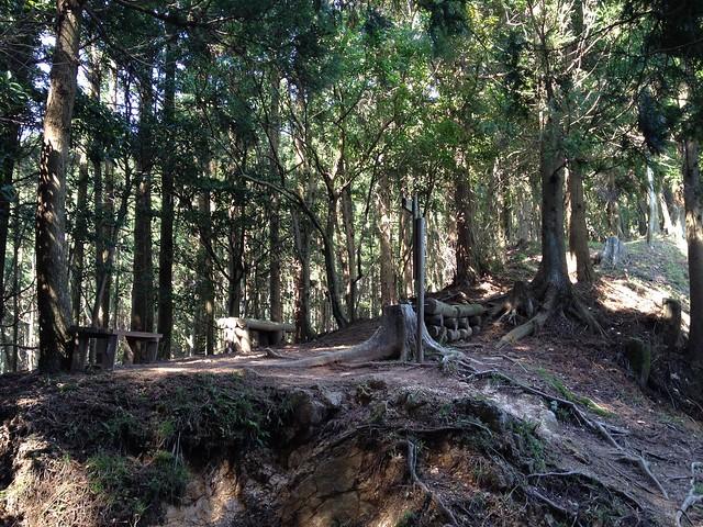 錫杖ヶ岳 加太コース 柚之木峠 ベンチ