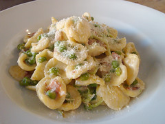 Orecchiette with Spring Peas, Pancetta and Pea Sho…