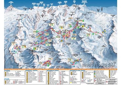 Monterosa Ski - mapa sjezdovek