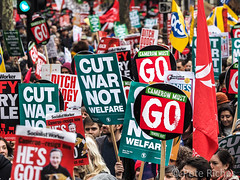 150,000 protest in London for Health, Homes, Jobs & Education
