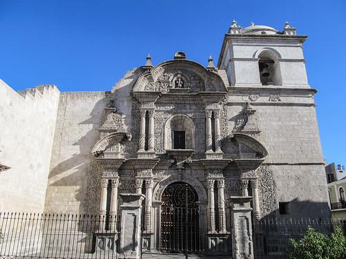 Arequipa: Iglesia de la Compañia, entre tradition inca et catholique