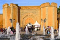 Kultur-Reise Königsstädte Marokkos. Rabat, Hauptstadt Marokkos, Eingangstor in die Medina (Altstadt). Foto: Günther Härter.