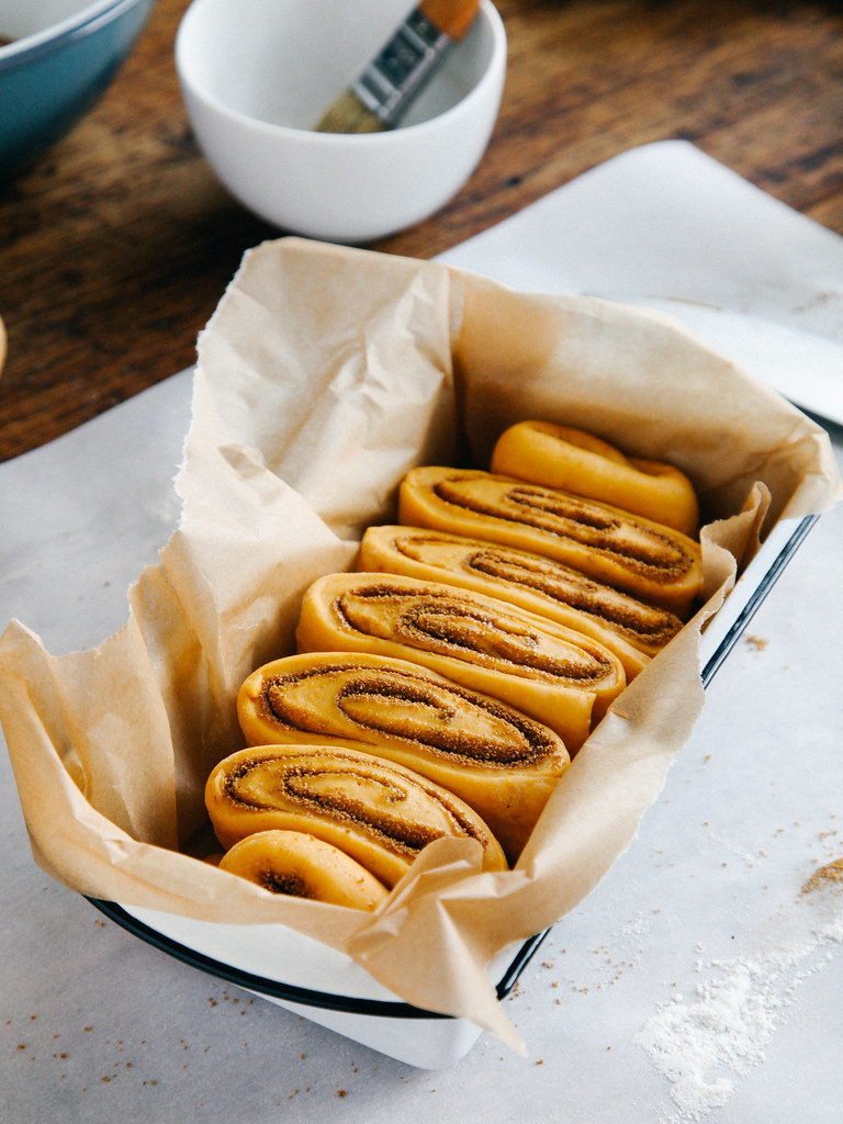 Overnight pumpkin spice cinnamon roll loaf