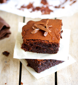 Brownie and truffles
