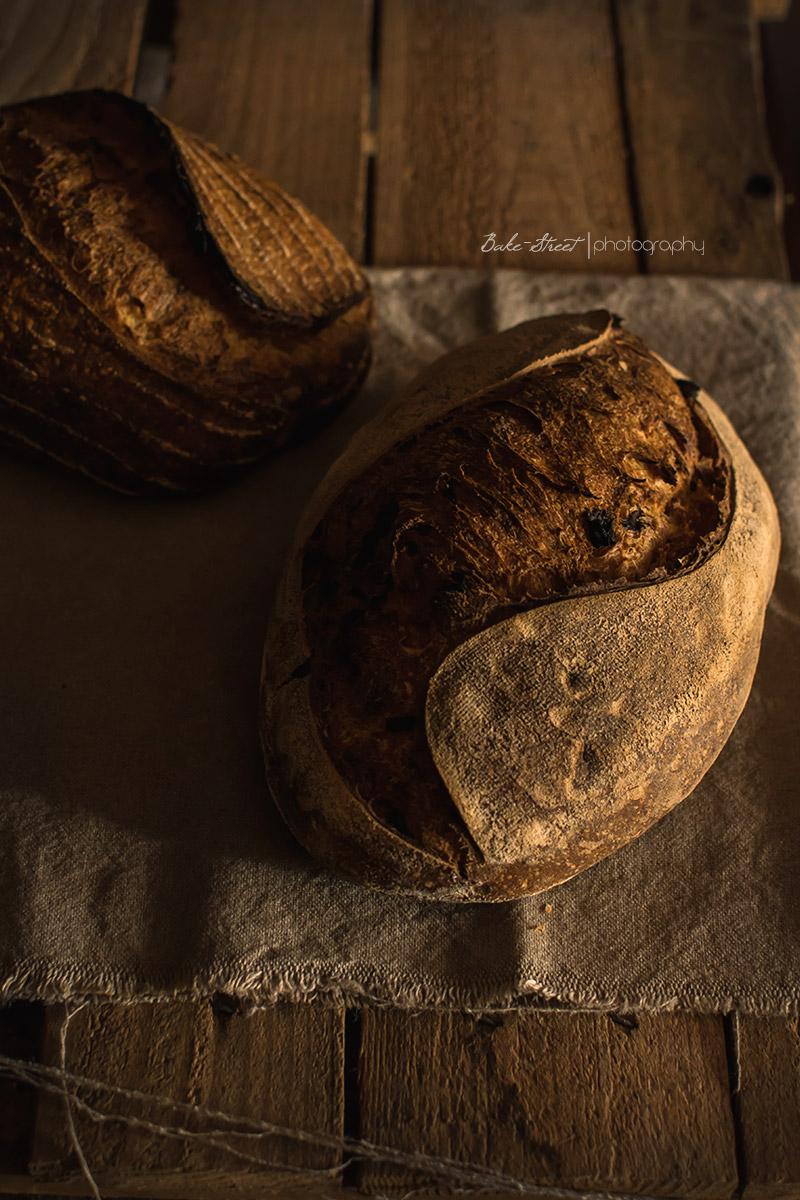 Pan con agridulce de trompetas amarillas