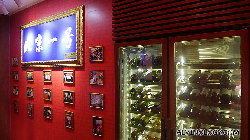 Wall of fame showing all the famous people who have dined there