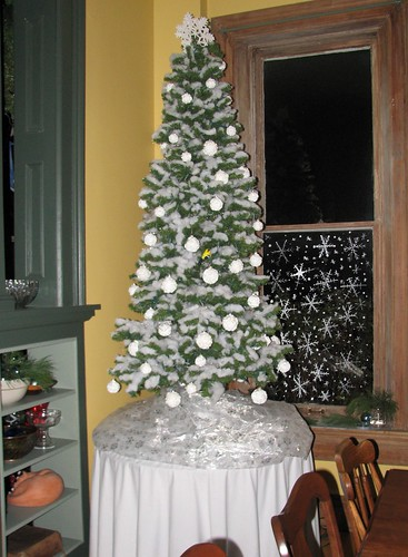 snow tree in the dining room