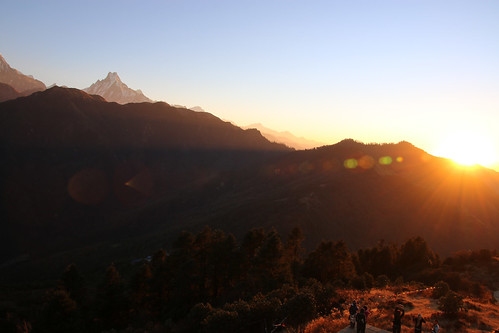 nepal sunrise himalayas poonhill punhill fishtailpeak annapurnarange mountmachhapuchchhre