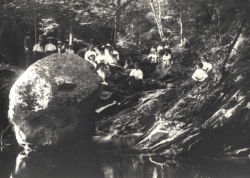 Women in woods