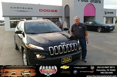Congratulations to Nick Farris on your #Jeep #Cherokee purchase from Bill Reed at Four Stars Auto Ranch! #NewCar