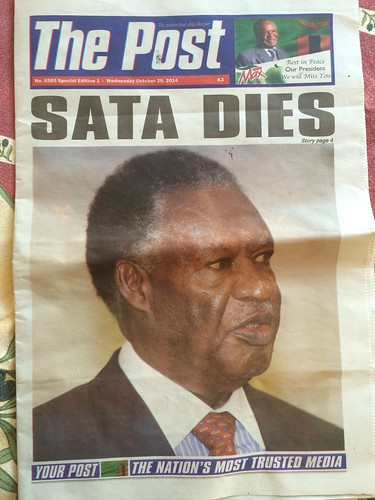Sata dies - The Post - 29-Oct-14