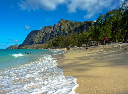 seascape beach clouds landscape island hawaii sand surf waves oahu bluesky panasonic pacificocean waimanalo windward zs3