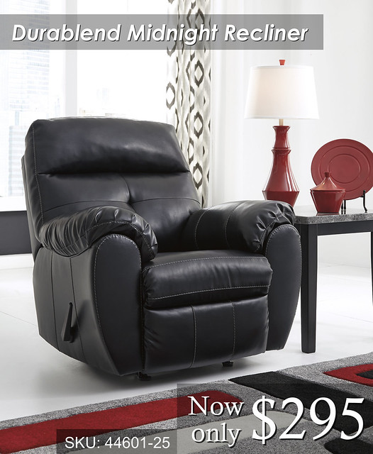 44601-25 Bastrop Durablend Midnight Recliner PRICED
