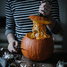 whole grain bread, apple, bacon & gruyere stuffed pumpkin by Beth Kirby | {local milk}